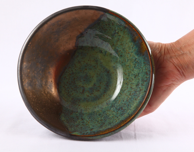 Bowl with Copper Flow